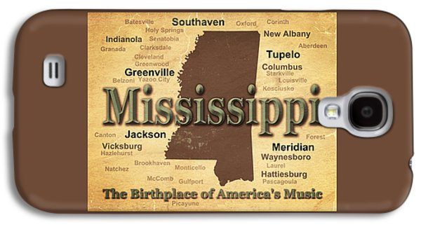 Hattiesburg Galaxy S4 Cases - Aged Mississippi State Pride Map Silhouette  Galaxy S4 Case by Keith Webber Jr