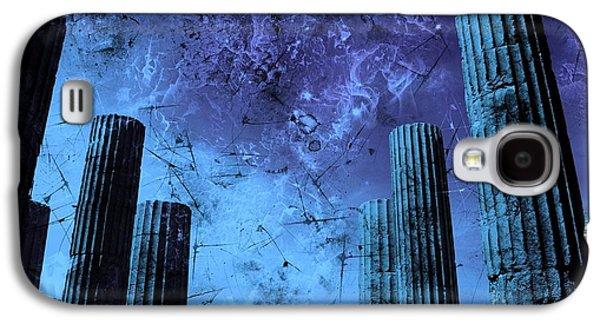 Creepy Galaxy S4 Cases - Akropolis Columns Galaxy S4 Case by Marina McLain
