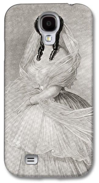 Charlotte Drawings Galaxy S4 Cases - Alexandra Of Denmark, 1844 Galaxy S4 Case by Ken Welsh