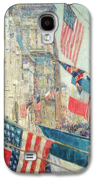 Wwi Paintings Galaxy S4 Cases - Allies Day - May 1917 Galaxy S4 Case by Childe Hassam