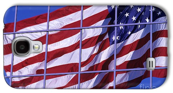 Business Galaxy S4 Cases - American Flag Reflection Galaxy S4 Case by Jim Corwin