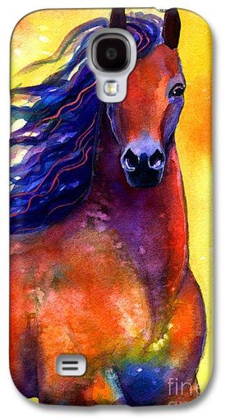 Fine Drawings Galaxy S4 Cases - Arabian horse 1 painting Galaxy S4 Case by Svetlana Novikova