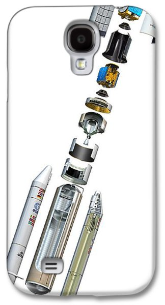 Component Photographs Galaxy S4 Cases - Ariane 5 Rocket, Artwork Galaxy S4 Case by David Ducros