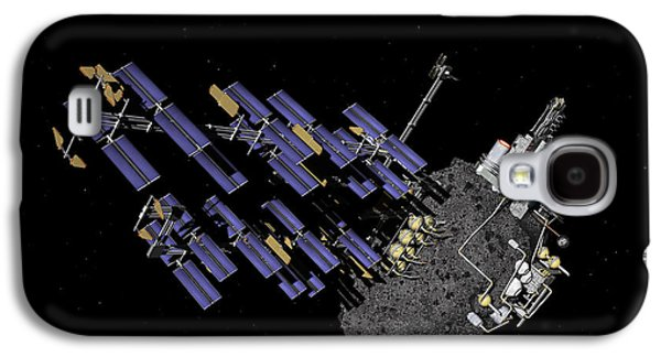 Planetoid Galaxy S4 Cases - Asteroid Mining Outpost Galaxy S4 Case by Walter Myers