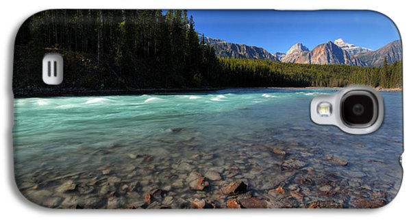 Park Scene Digital Galaxy S4 Cases - Athabasca River in Jasper National Park Galaxy S4 Case by Mark Duffy