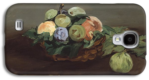 Interior Still Life Paintings Galaxy S4 Cases - Basket Of Fruit Galaxy S4 Case by Edouard Manet