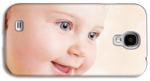 Studio Photographs Galaxy S4 Cases - Beautiful baby portrait Galaxy S4 Case by Anna Omelchenko