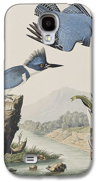 Talons Paintings Galaxy S4 Cases - Belted Kingfisher Galaxy S4 Case by John James Audubon