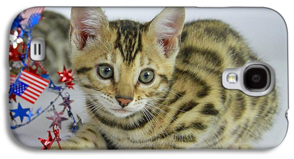 4th July Pyrography Galaxy S4 Cases - Bengal Kitten  Galaxy S4 Case by Shoal Hollingsworth