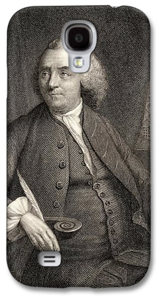 Franklin Drawings Galaxy S4 Cases - Benjamin Franklin, 1706-1790. American Galaxy S4 Case by Ken Welsh