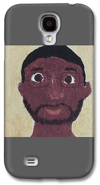 African-american Galaxy S4 Cases - Bespectacled Man Galaxy S4 Case by Zaria Taylor