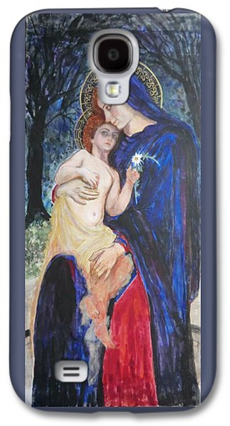 Greek Icon Paintings Galaxy S4 Cases - Between Mother and Son Galaxy S4 Case by Olga Dytyniak