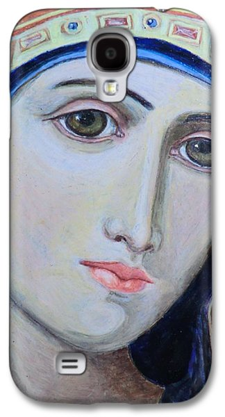 Greek Icon Paintings Galaxy S4 Cases - Beyond Her Years Galaxy S4 Case by Olga Dytyniak