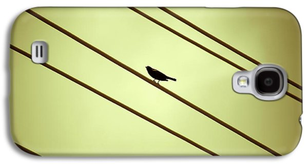 Abstract Nature Galaxy S4 Cases - Bird on a Wire Galaxy S4 Case by Marilyn Hunt