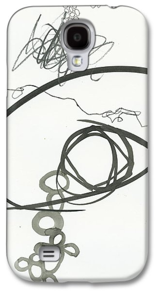 Drawing Paintings Galaxy S4 Cases - Black and White 2 Galaxy S4 Case by Jane Davies