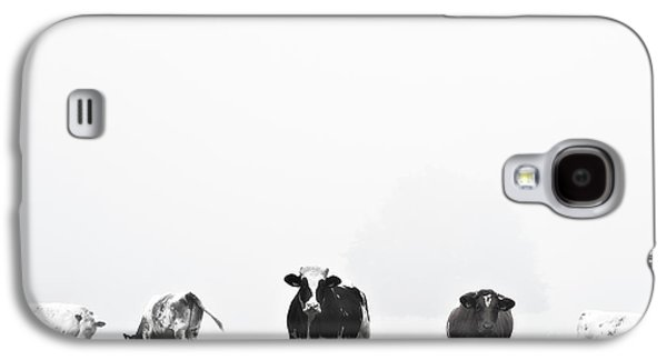 Monochromatic Digital Art Galaxy S4 Cases - Black And White Nature Landscape Photography Art Work Galaxy S4 Case by Marco Hietberg