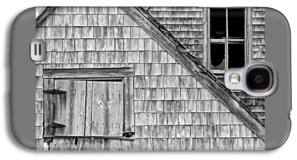 Building Exterior Galaxy S4 Cases - Black and White Old Building In Maine Galaxy S4 Case by Keith Webber Jr