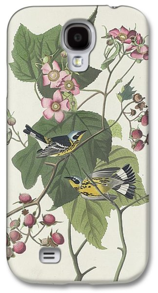 Black And Yellow Warbler Galaxy S4 Case by John James Audubon