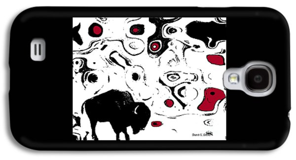 Bison Digital Galaxy S4 Cases - Black Buffalo Abstract Galaxy S4 Case by Sharon K Shubert