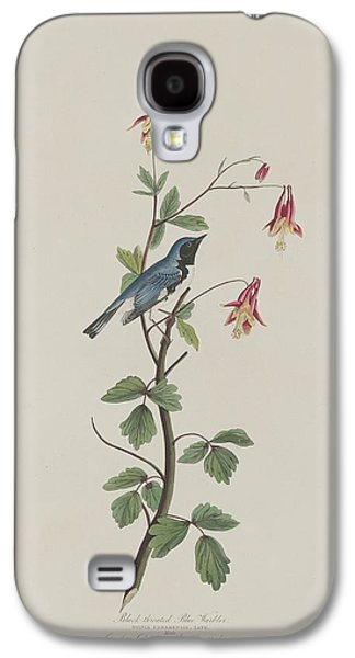 Black-throated Blue Warbler Galaxy S4 Case by John James Audubon