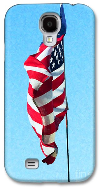Flag Of Usa Galaxy S4 Cases - Blowing in the Wind Galaxy S4 Case by Tim Gainey