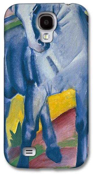 Abstract Movement Galaxy S4 Cases - Blue Horse Galaxy S4 Case by Franz Marc