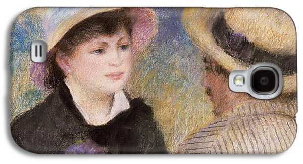 Impressionism Pastels Galaxy S4 Cases - Boating Couple Galaxy S4 Case by Auguste Renoir