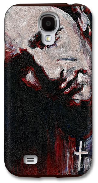 Bono Paintings Galaxy S4 Cases - Bono - Man Behind the Songs Of Innocence Galaxy S4 Case by Tanya Filichkin