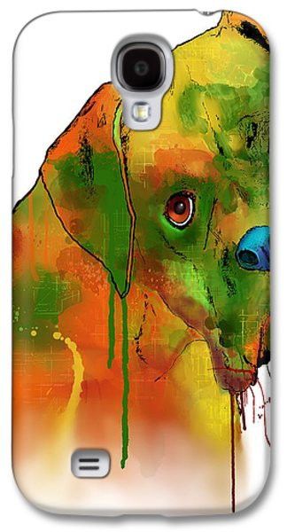Boxer Dog Digital Galaxy S4 Cases - Boxer Galaxy S4 Case by Marlene Watson