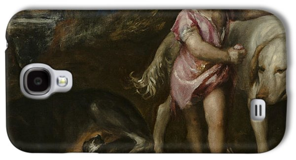 Boy With Dogs In A Landscape Galaxy S4 Case by Titian