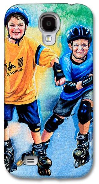 Kids Sports Art Galaxy S4 Cases - Breaking Away Galaxy S4 Case by Hanne Lore Koehler