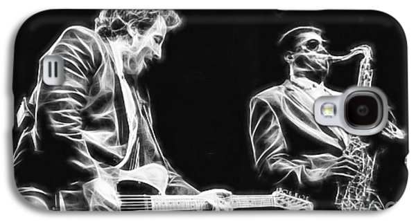 Bruce Springsteen Mixed Media Galaxy S4 Cases - Bruce Springsteen Clarence Clemons Collection Galaxy S4 Case by Marvin Blaine