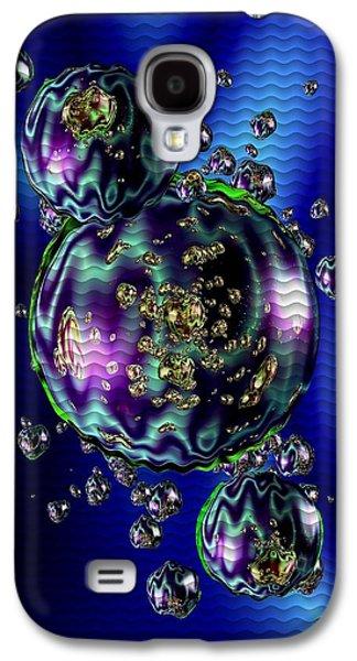 Abstract Digital Pastels Galaxy S4 Cases - Bubbliana Catus 2 no. 5 V b Galaxy S4 Case by Gert J Rheeders