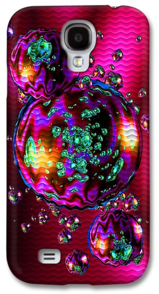 Abstract Digital Pastels Galaxy S4 Cases - Bubbliana Catus 2 no. 8 V b Galaxy S4 Case by Gert J Rheeders