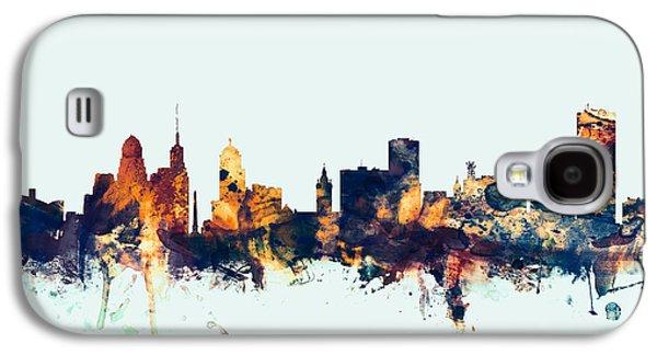 Buffalo Digital Galaxy S4 Cases - Buffalo New York Skyline Galaxy S4 Case by Michael Tompsett