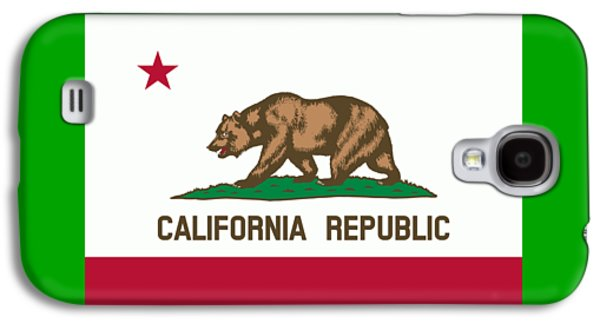Waving Flag Mixed Media Galaxy S4 Cases - California Flag Galaxy S4 Case by Frederick Holiday