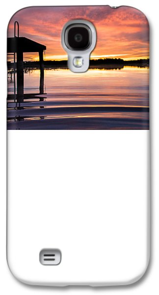 Sunset Abstract Galaxy S4 Cases - Calm Hues Galaxy S4 Case by Parker Cunningham