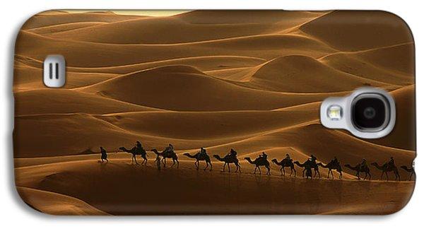 Camel Caravan In The Erg Chebbi Southern Morocco Galaxy S4 Case by Ralph A  Ledergerber-Photography