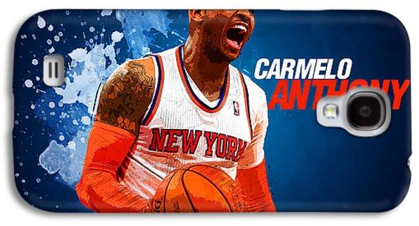 Carmelo Anthony Galaxy S4 Case by Semih Yurdabak