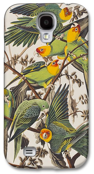 Carolina Parrot Galaxy S4 Case by John James Audubon