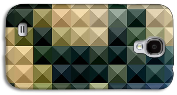 Blue Abstracts Galaxy S4 Cases - Castleton Green Abstract Low Polygon Background Galaxy S4 Case by Aloysius Patrimonio