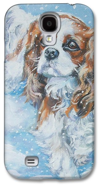 Recently Sold -  - Puppies Galaxy S4 Cases - Cavalier King Charles Spaniel blenheim in snow Galaxy S4 Case by Lee Ann Shepard