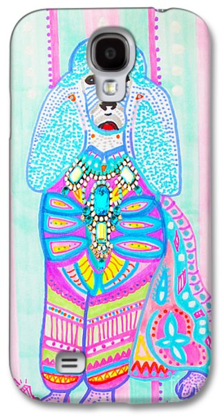 Puppy Digital Art Galaxy S4 Cases - Celebrity Poodle by Keira Lagunas Galaxy S4 Case by Keira  Lagunas