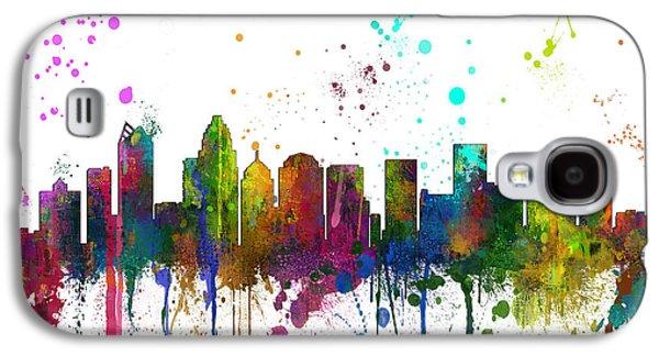 Charlotte Digital Art Galaxy S4 Cases - Charlotte NC Skyline  Galaxy S4 Case by Marlene Watson