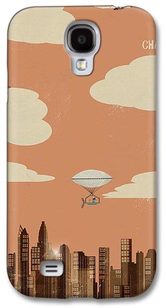 Charlotte Digital Art Galaxy S4 Cases - Charlotte North Carolina Galaxy S4 Case by Bri Buckley