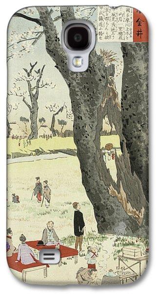 Cherry Blossoms Galaxy S4 Case by Kobayashi Kiyochika