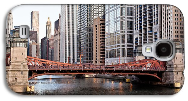 Chicago River Galaxy S4 Cases - Chicago Downtown at LaSalle Street Bridge Galaxy S4 Case by Paul Velgos