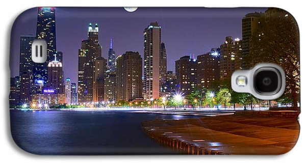 Commerce Galaxy S4 Cases - Chicago from the North Galaxy S4 Case by Frozen in Time Fine Art Photography
