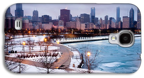 No People Photographs Galaxy S4 Cases - Chicago Skyline in Winter Galaxy S4 Case by Paul Velgos