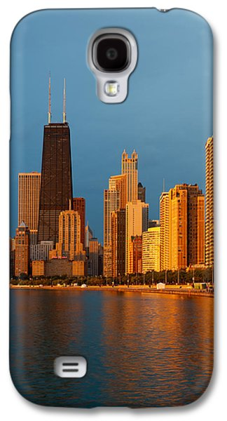 Sun Galaxy S4 Cases - Chicago Skyline Galaxy S4 Case by Sebastian Musial